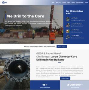 Изработка на сайт на GEOPS